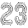 23 SILVER MYLAR BALLOONS (34 INCH) PARTY SUPPLIES
