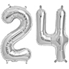 24 SILVER MYLAR BALLOONS (34 INCH) PARTY SUPPLIES