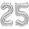 25 SILVER MYLAR BALLOONS (34 INCH) PARTY SUPPLIES