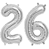 26 SILVER MYLAR BALLOONS (34 INCH) PARTY SUPPLIES