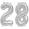 28 SILVER MYLAR BALLOONS (34 INCH) PARTY SUPPLIES