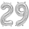 29 SILVER MYLAR BALLOONS (34 INCH) PARTY SUPPLIES