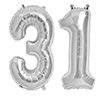 31 SILVER MYLAR BALLOONS (34 INCH) PARTY SUPPLIES