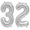 32 SILVER MYLAR BALLOONS (34 INCH) PARTY SUPPLIES