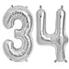 34 SILVER MYLAR BALLOONS (34 INCH) PARTY SUPPLIES