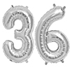 36 SILVER MYLAR BALLOONS (34 INCH) PARTY SUPPLIES