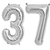 37 SILVER MYLAR BALLOONS (34 INCH) PARTY SUPPLIES