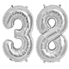 38 SILVER MYLAR BALLOONS (34 INCH) PARTY SUPPLIES