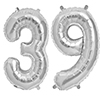 39 SILVER MYLAR BALLOONS (34 INCH) PARTY SUPPLIES