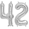 42 SILVER MYLAR BALLOONS (34 INCH) PARTY SUPPLIES