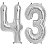 43 SILVER MYLAR BALLOONS (34 INCH) PARTY SUPPLIES