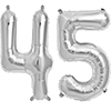 45 SILVER MYLAR BALLOONS (34 INCH) PARTY SUPPLIES