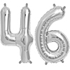 46 SILVER MYLAR BALLOONS (34 INCH) PARTY SUPPLIES