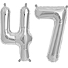 47 SILVER MYLAR BALLOONS (34 INCH) PARTY SUPPLIES