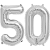 50 SILVER MYLAR BALLOONS (34 INCH) PARTY SUPPLIES