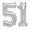 51 SILVER MYLAR BALLOONS (34 INCH) PARTY SUPPLIES