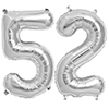 52 SILVER MYLAR BALLOONS (34 INCH) PARTY SUPPLIES