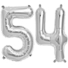 54 SILVER MYLAR BALLOONS (34 INCH) PARTY SUPPLIES