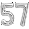 57 SILVER MYLAR BALLOONS (34 INCH) PARTY SUPPLIES