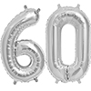 60 SILVER MYLAR BALLOONS (16 INCH) PARTY SUPPLIES
