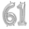 61 SILVER MYLAR BALLOONS (34 INCH) PARTY SUPPLIES