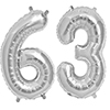63 SILVER MYLAR BALLOONS (34 INCH) PARTY SUPPLIES