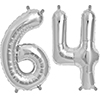64 SILVER MYLAR BALLOONS (34 INCH) PARTY SUPPLIES