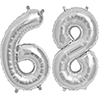 68 SILVER MYLAR BALLOONS (34 INCH) PARTY SUPPLIES