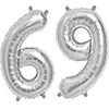 69 SILVER MYLAR BALLOONS (34 INCH) PARTY SUPPLIES