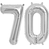 70 SILVER MYLAR BALLOONS (34 INCH) PARTY SUPPLIES