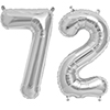 72 SILVER MYLAR BALLOONS (34 INCH) PARTY SUPPLIES