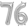 76 SILVER MYLAR BALLOONS (34 INCH) PARTY SUPPLIES