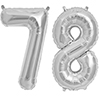 78 SILVER MYLAR BALLOONS (34 INCH) PARTY SUPPLIES