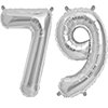 79 SILVER MYLAR BALLOONS (34 INCH) PARTY SUPPLIES