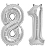 81 SILVER MYLAR BALLOONS (34 INCH) PARTY SUPPLIES
