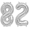 82 SILVER MYLAR BALLOONS (34 INCH) PARTY SUPPLIES