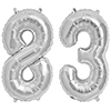 83 SILVER MYLAR BALLOONS (34 INCH) PARTY SUPPLIES