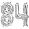 84 SILVER MYLAR BALLOONS (34 INCH) PARTY SUPPLIES