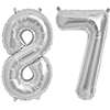 87 SILVER MYLAR BALLOONS (34 INCH) PARTY SUPPLIES