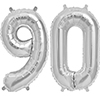 90 SILVER MYLAR BALLOONS (34 INCH) PARTY SUPPLIES