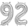 92 SILVER MYLAR BALLOONS (34 INCH) PARTY SUPPLIES