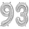 93 SILVER MYLAR BALLOONS (34 INCH) PARTY SUPPLIES