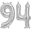 94 SILVER MYLAR BALLOONS (34 INCH) PARTY SUPPLIES
