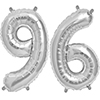 96 SILVER MYLAR BALLOONS (34 INCH) PARTY SUPPLIES