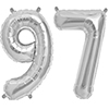 97 SILVER MYLAR BALLOONS (34 INCH) PARTY SUPPLIES