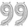 99 SILVER MYLAR BALLOONS (16 INCH) PARTY SUPPLIES