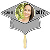 SILVER GRAD CAP PHOTO PADDLE PARTY SUPPLIES