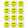 SMILEY FACE COASTERS 12/PKG PARTY SUPPLIES