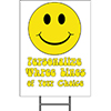 SMILEY FACE YARD SIGN PARTY SUPPLIES