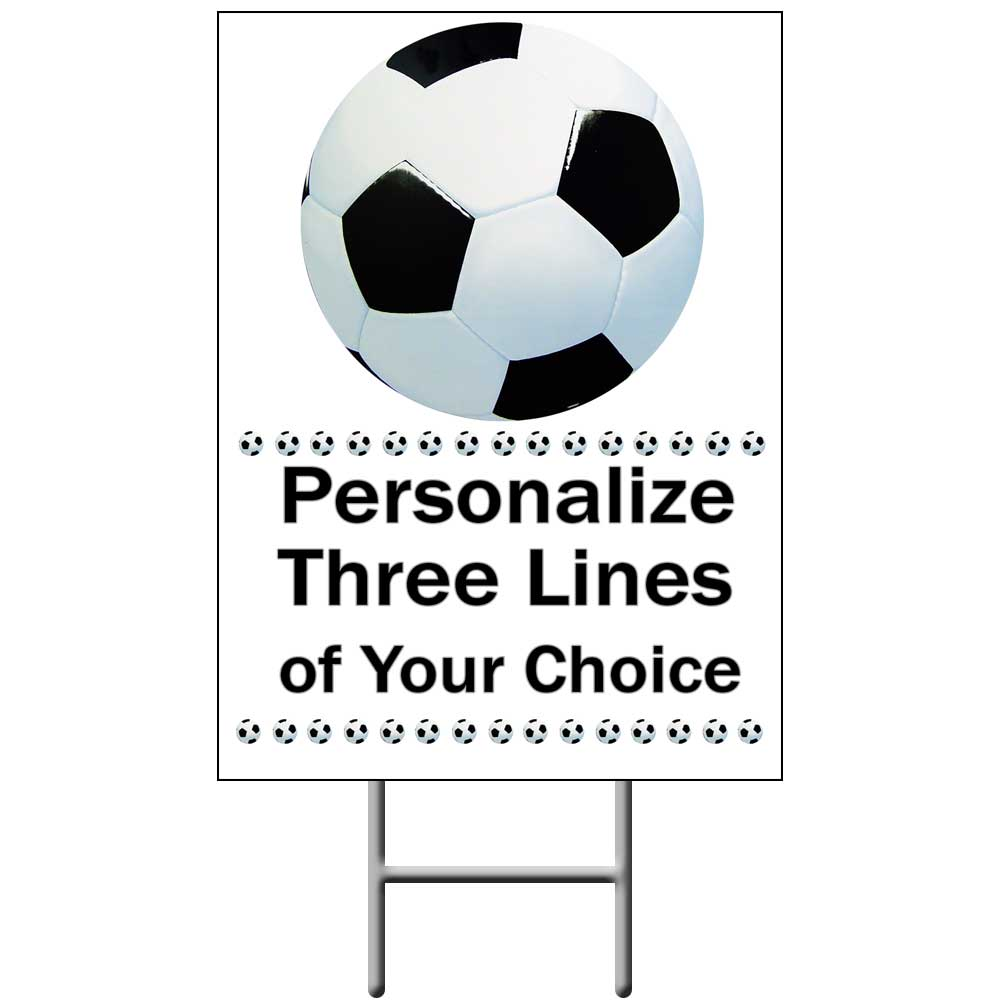 Click for larger picture of SOCCER YARD SIGN PARTY SUPPLIES